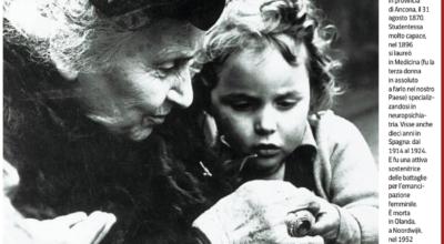 """Maria Montessori: """"Ritorno all'asilo il mio minimondo"""""""